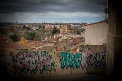Città storica del centro della Spagna Fotografie Stock