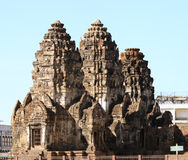 Città storica del yot di Sam del prang di Phra vecchia. Fotografia Stock