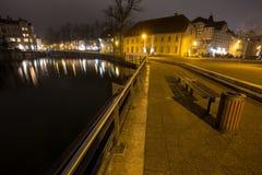 città storica della Germania del detmold nella sera Fotografie Stock