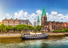 Città storica di Brema, Germania immagine stock libera da diritti