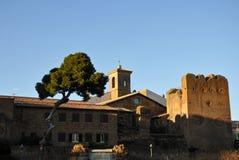 Città storica di Cerveteri in Italia centrale fotografia stock