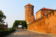 Città storica di Cracovia nel cuore della Polonia immagine stock libera da diritti