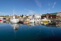 Città storica di Husavik, Islanda fotografie stock libere da diritti