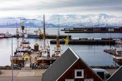 Città storica di Husavik, Islanda Fotografia Stock