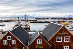 Città storica di Husavik, Islanda Fotografia Stock Libera da Diritti