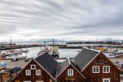 Città storica di Husavik, Islanda Immagine Stock Libera da Diritti