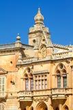 Città storica di La Valletta, Malta Fotografia Stock Libera da Diritti