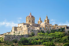 Città storica di Mdina, Malta Fotografia Stock Libera da Diritti