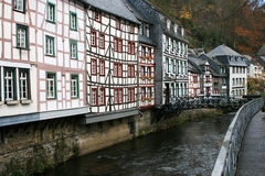 Città storica di Monschau, Germania Immagini Stock Libere da Diritti