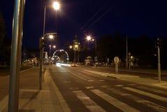 Città storica di notte Immagine Stock Libera da Diritti