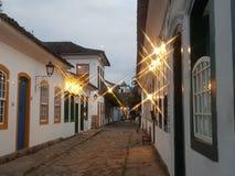 Città storica di Paraty immagine stock