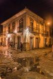 Città storica di Paraty alla notte Fotografia Stock Libera da Diritti