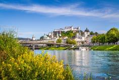 Città storica di Salisburgo di estate, Austria Immagine Stock Libera da Diritti