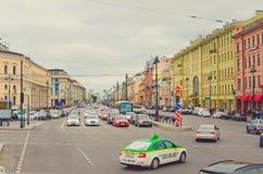 Città storica di St Petersburg, Russia La città è stata fondata nel 1703, è ora il seco fotografie stock libere da diritti