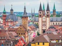 Città storica di Wurzburg, Franconia, Baviera, Germania Fotografia Stock