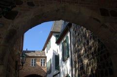 Città storica di Zons, Germania fotografia stock libera da diritti