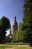 Città storica di Zons, Germania fotografie stock