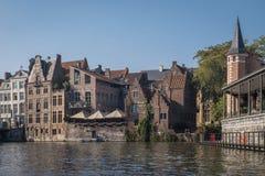 Città storica Gand nel Belgio Fotografia Stock Libera da Diritti