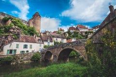 città storica Semur-en-auxois fotografia stock