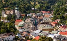 Città storica Slovacchia di estrazione mineraria di Banska Stiavnica Fotografia Stock
