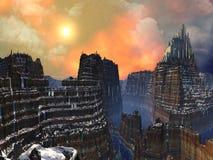 città straniera della Scogliera-parte superiore di oro royalty illustrazione gratis