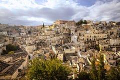 Città sulla collina, Italia di Tropea Immagine Stock