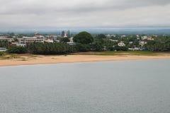 Città sulla costa tropicale Toamasina, Madagascar Fotografie Stock Libere da Diritti