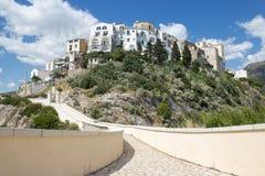 Città sulla roccia, Italia Fotografie Stock