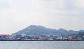 Città sulla spiaggia immagine stock libera da diritti