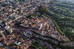 Città superiore di Zagabria da aria Fotografia Stock Libera da Diritti