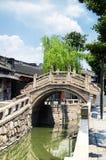 Città Suzhou Cina dell'acqua di Luzhi immagine stock libera da diritti
