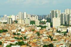 Città in terzo mondo Fotografia Stock Libera da Diritti