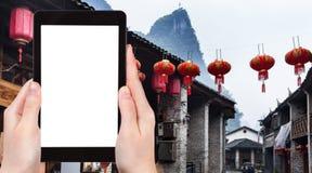 città turistica di Xing Ping dei photograps in Cina Fotografie Stock Libere da Diritti