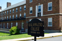 città universitaria dell'istituto universitario del Michigan Kalamzoo Immagini Stock Libere da Diritti