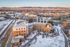 Città universitaria di energia della centrale elettrica di CSU Fotografia Stock