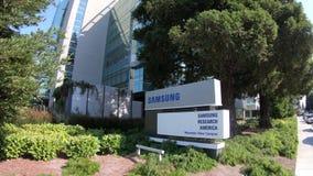 Città universitaria di Samsung Mountain View stock footage