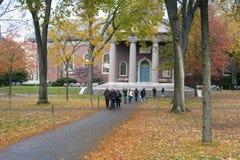 Città universitaria di università di Harvard Immagini Stock Libere da Diritti