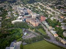 Città universitaria Victoria And Wellington Neighborhoods di Kelburn fotografia stock libera da diritti