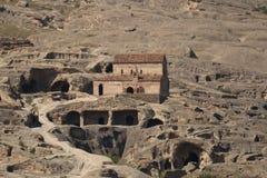 Città Uplistsikhe della caverna Fotografia Stock