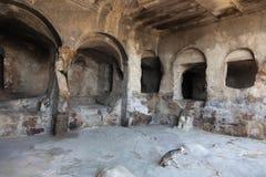 città Uplistsikhe della caverna di 3.000 y.o. Georgia. Fotografia Stock