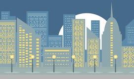 Città urbana del paesaggio Immagine Stock