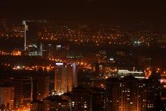 Città urbana entro Night Immagini Stock