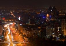 Città urbana entro Night Fotografie Stock