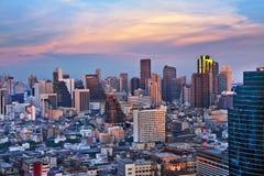 Città urbana moderna, Bangkok, Tailandia. Immagini Stock Libere da Diritti