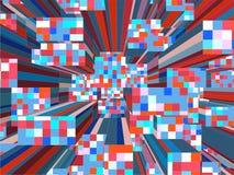 Città urbana variopinta del mosaico del vettore dei grattacieli Fotografia Stock