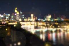Città vaga alla notte Immagine Stock Libera da Diritti