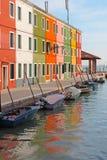 Città variopinta di Burano in Italia Immagine Stock Libera da Diritti