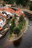 Città Vecchia in Cesky Krumlov, repubblica Ceca, Cechia, eredità Immagini Stock Libere da Diritti