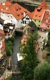 Città Vecchia in Cesky Krumlov, repubblica Ceca, Cechia, eredità Fotografie Stock