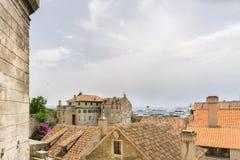 Città Vecchia della spaccatura da sopra Fotografie Stock